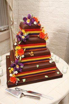 Multiple ,layered wedding cake
