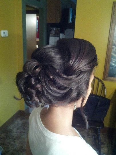 Hair bun up do