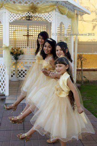 Junior Bridesmaids dancing at a wedding reception venue in Avondale - Arizona Wedding Photography