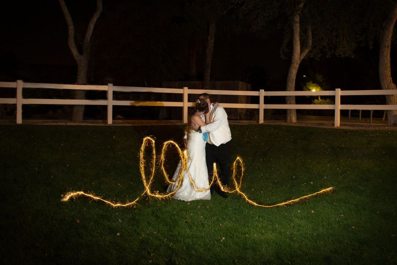 Love in Sparkler Lights