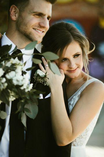 Newly-weds embrace - Monphotography