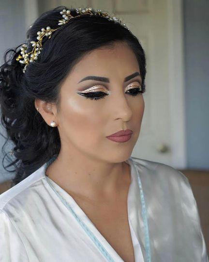 A glamorous look
