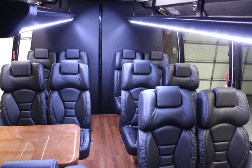 14 passenger minibus interior