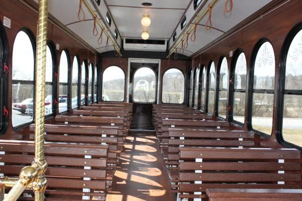 Inside of the trolley
