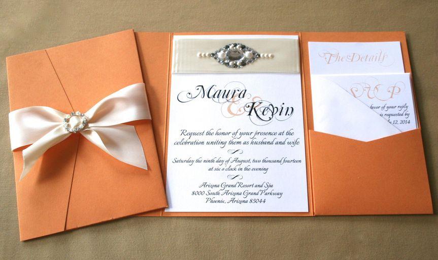 bridal sash open and closed pocketfold