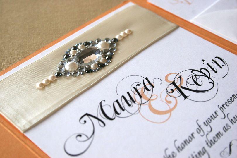 bridal sash upclose of jewels