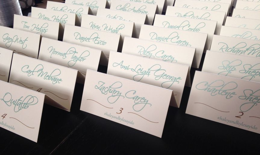 corbo wedding place cards