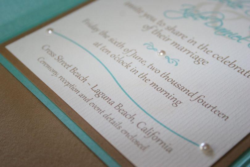 corbo wedding invite pearl upclose