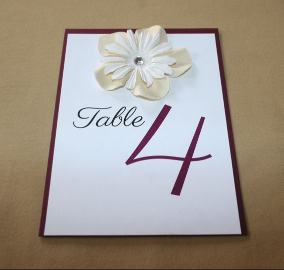 flowers table number