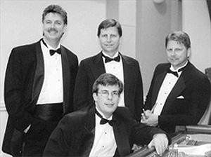 Band in tuxedos