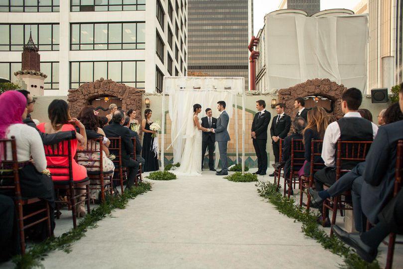City outdoor wedding