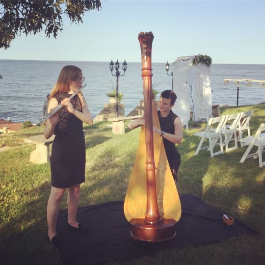 Flute& Harp waterfront wedding