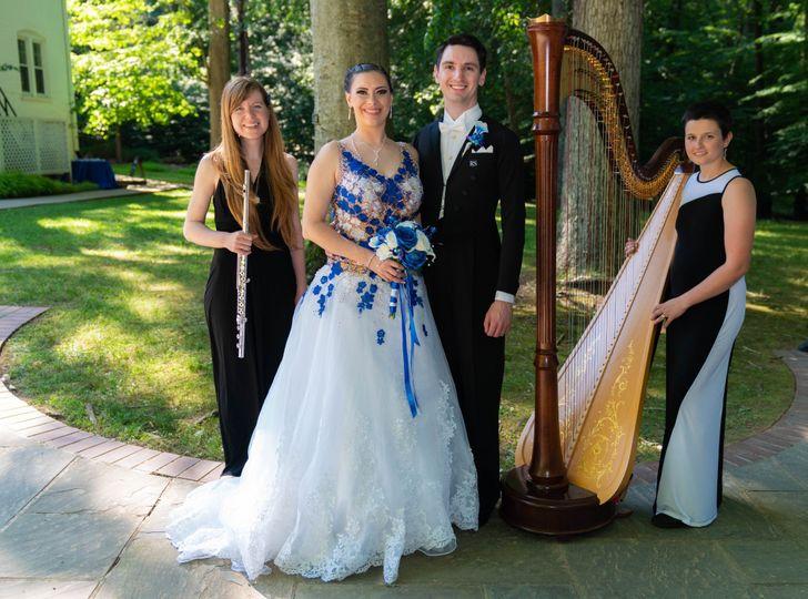 Flute & Harp w/ Bride & Groom