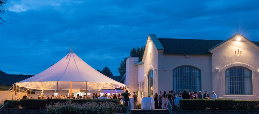 Tented Patio and Clubhouse