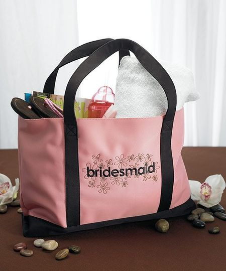 """Bridesmaid"" Two Tone Tote Bag- Item # WS8467...A bridesmaids job is never done. Available in..."