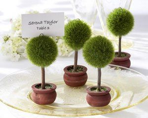 Topiary Photo Holder/Place Card Holder (Set of 4) - Item # KA22011gn...hold a cherished photo of the...