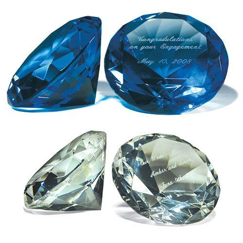 Personalized Diamond Shaped Paper Weight- Item # WS7015... Diamond shaped crystal paper weight is...