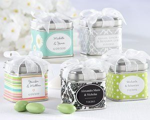 """Unexpected Treasures!"" Favor Tin with Pre-Tied Organza Bow (Set of 12) - Item # KA14030na..."