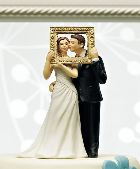 Picture Perfect Couple Romantic Wedding Cake topper -WS9012