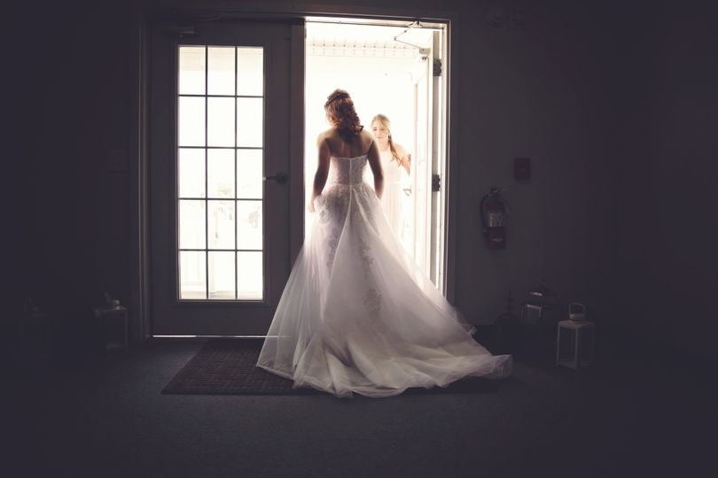 As a Bride waits for her groom