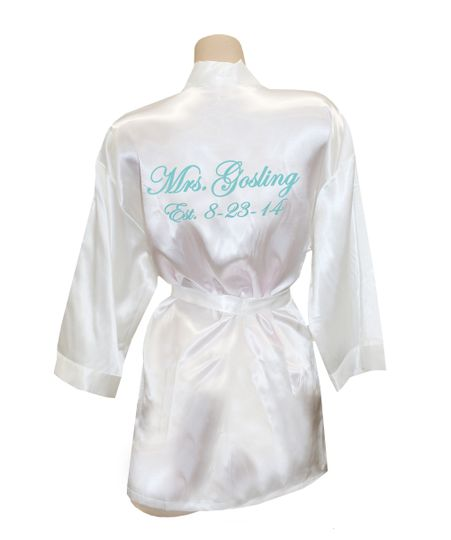 SHOP Classy Bride for your Personalized Satin Robes for the Bride and the new Mrs. This custom...