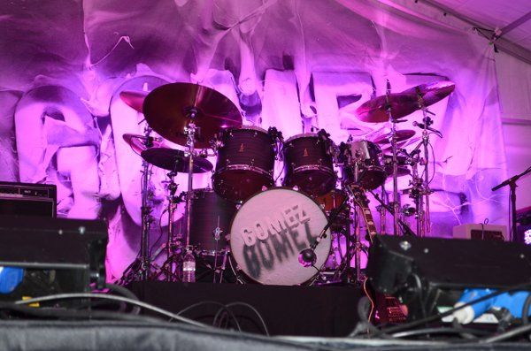 "The stage for Pink Vail looked pretty awesome as show time neared.  The band ""Gomez"" was the..."