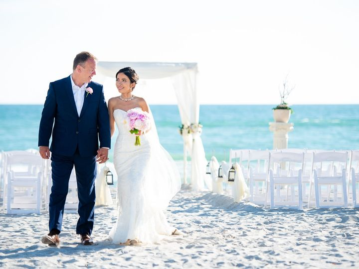 Tmx 21 Couple Walking Beach Ceremony 51 921693 157661017993384 Longboat Key, FL wedding venue