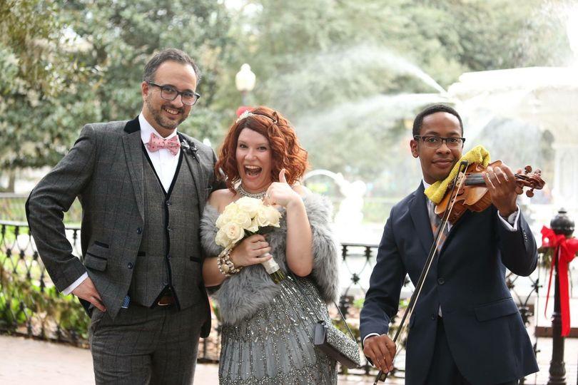 Wedding in Forsyth Park Savannah, Georgia