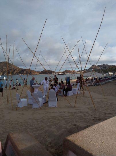 Tepee Circle Wedding Set-up