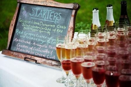Sparkling Wine and Server Passed Hors d'Oeuvres after Ceremony