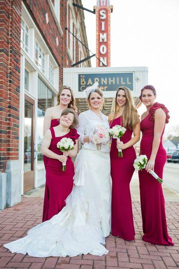 Stunning bride & bridesmaids
