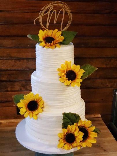 Fall sunflower cake