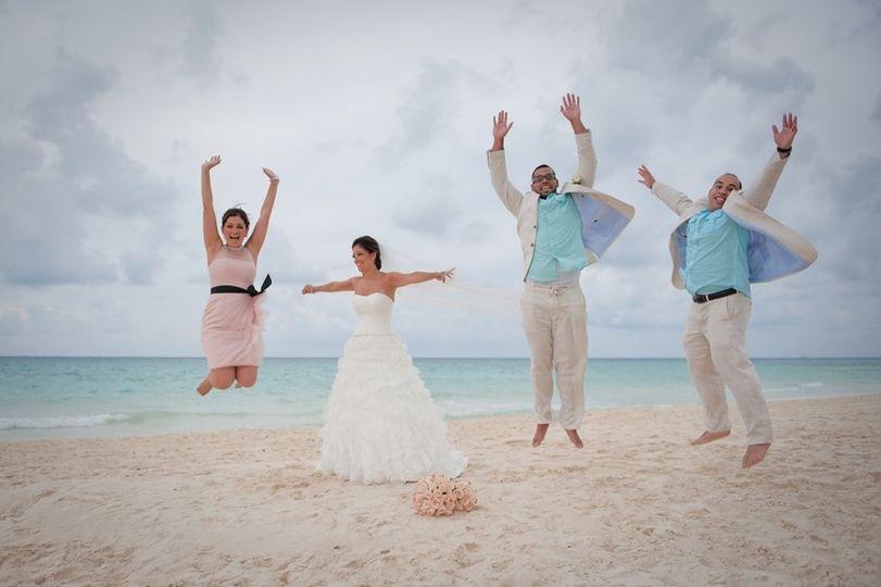 beach wedding blanca 02