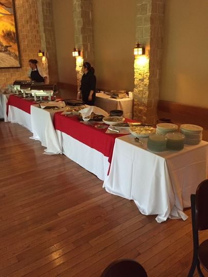 Sample buffet table