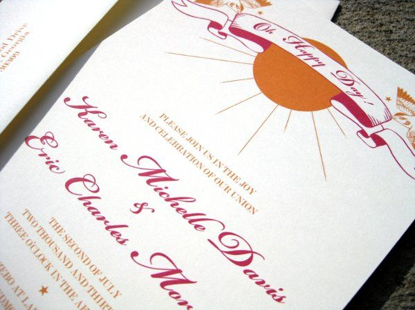 Birds & Banners Invitation - available in various colors