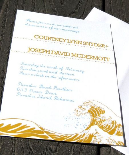 Beach Waves Invitation - available in various colors