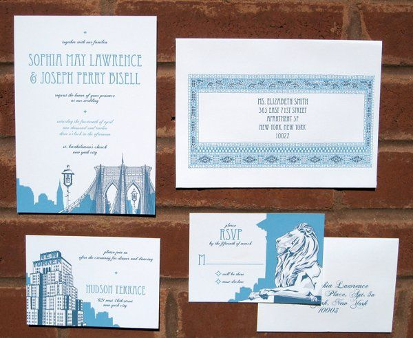 New York City Invitation Set - available in various colors
