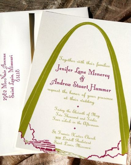 St. Louis Invitation Set - available in various colors