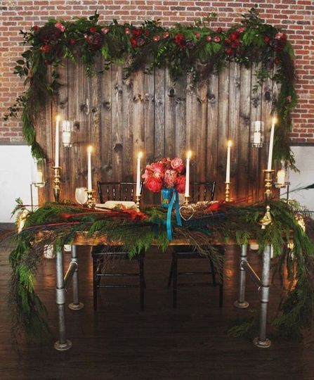 Sweetheart Table displayed at our venue The Harbor Room