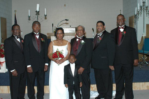 Movita (Pasley) O'Neal looks breathtaking in her lovely wedding gown and surrounded by all of the...