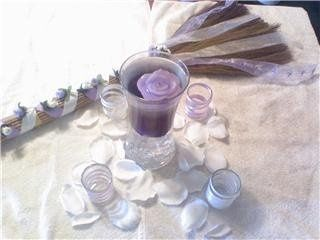 Preparing for the Isabelle/Lynch Wedding. Wedding jumping broom and centerpieces ideas.