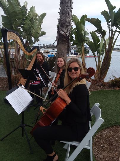 Harp trio at Paradise Point
