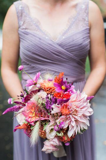 Whimsical bridesmaid bouquet