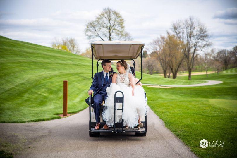 Gold course wedding