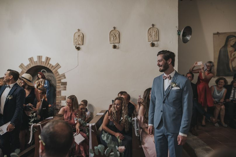 Tuscany wedding groom