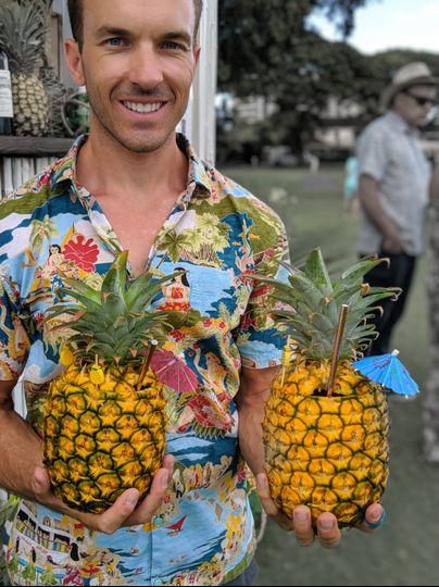 Pineapple Canoe Cocktails!