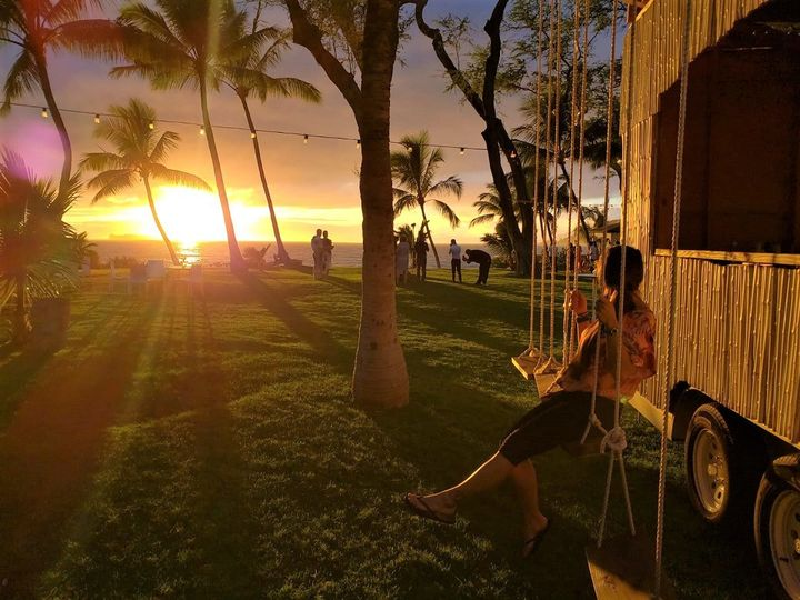Swing while the sun sets!