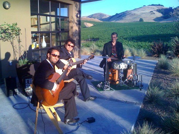 Trio Paz at an elegant event in the Wine Counrty