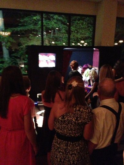 Guests enjoy watching the outside monitor.