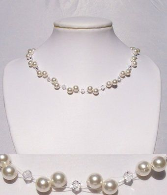 A popular and affordable selection for both brides and bridesmaids. This necklace features Swarovski...